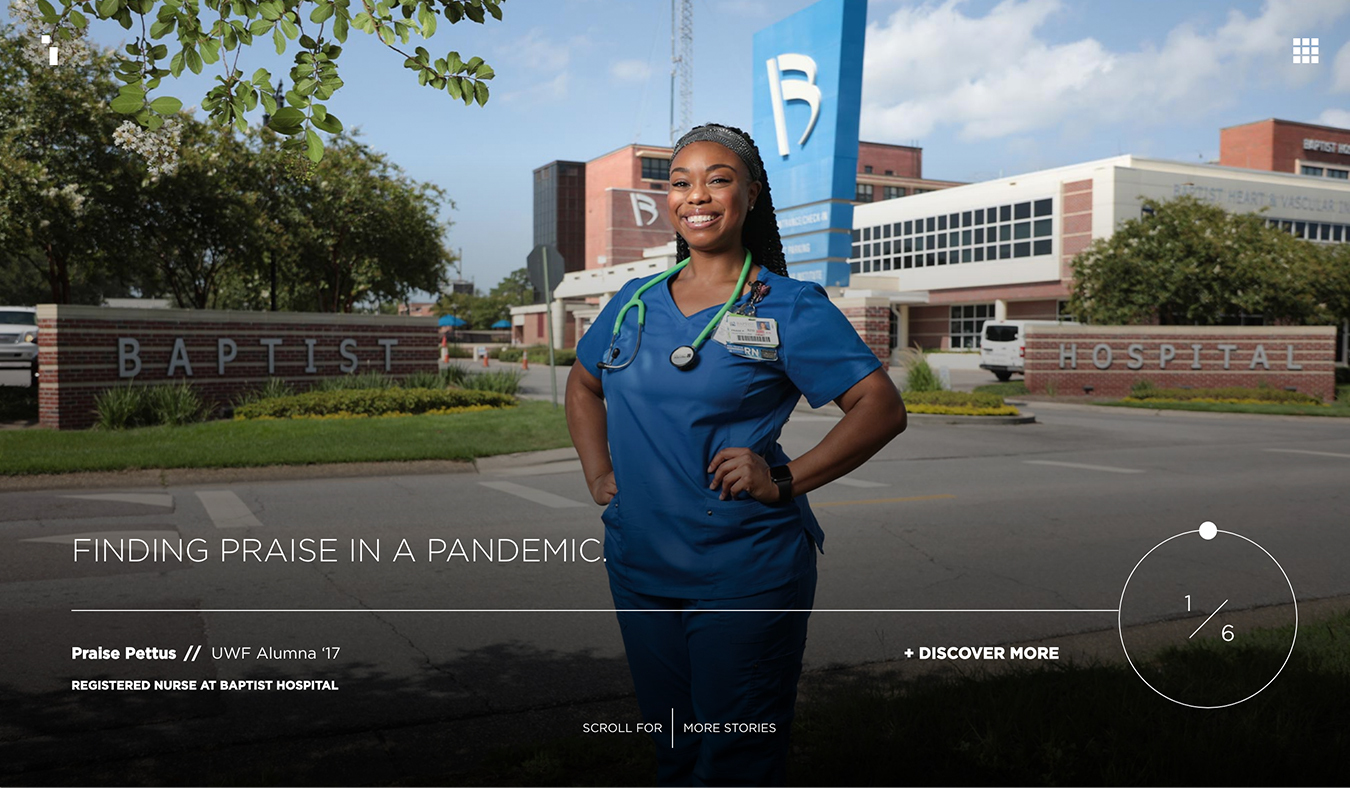 Empowered woman healthcare student